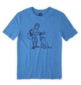 Life is Good M's Smooth Tee Guitar Jake, Marine Blue