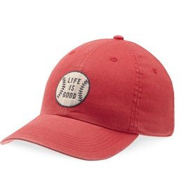 Life is Good Kids Chill Cap LIG Baseball, American Red