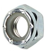 Eastern Skate Supply Blank Standard Lock Nut, Silver/Zinc (10-32)