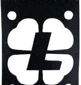 "Eastern Skate Supply Lucky Black 1/8"" Risers, Single"