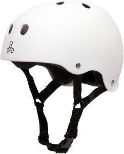 Eastern Skate Supply T8 Helmet, White Rubber