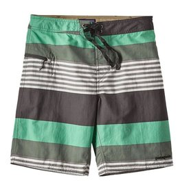 Patagonia M's Wavefarer Board Shorts 19 in, Fitz Stripe: Galah Green