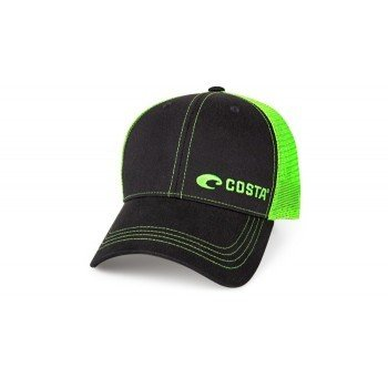Neon Trucker Black Twill With Neon Green Stitching Offseet Logo