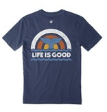 Life is Good Men's Crusher Tee Whale Tail, Darkest Blue