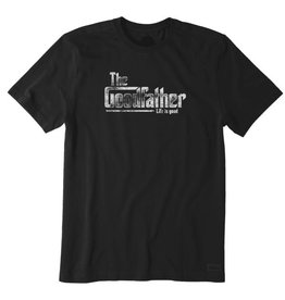 Life is Good M's Crusher Tee Goodfather, Night Black