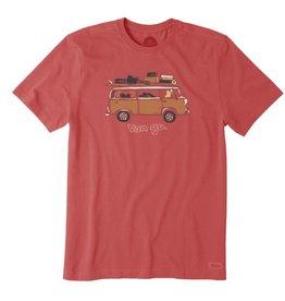 Life is Good M's Crusher Tee Van Go, Americana Red