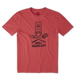 Life is Good M's Crusher Tee Grill Sergeant Jake, Americana Red