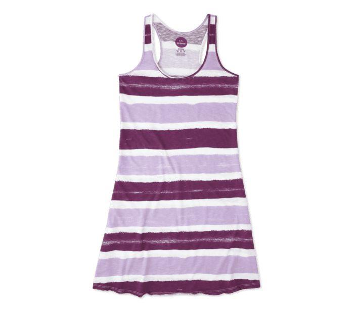 Life is Good W's Watercolor Racerback Dress, Cloud White