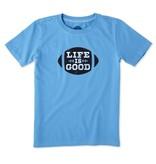 Life is Good S/S Boys Tee LIG Football, Marine Blue