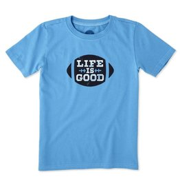 Life is Good S/S Boys Tee LIG Football, Marine Blue