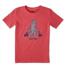 Life is Good S/S Boys Tee Wild Man, Americana Red
