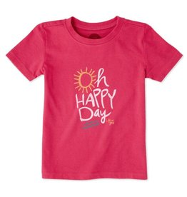 Life is Good S/S Toddler Tee Oh Happy Day, Pop Pink
