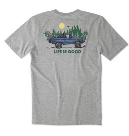Life is Good M's Pocket Crusher ATV LIG, Heather Gray