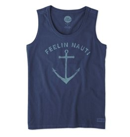 Life is Good W's Sleeveless Crusher Scoop Feelin' Nautical