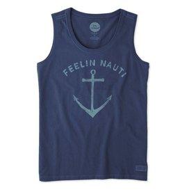 Life is Good W's Sleeveless Crusher Scoop Feelin' Nautical