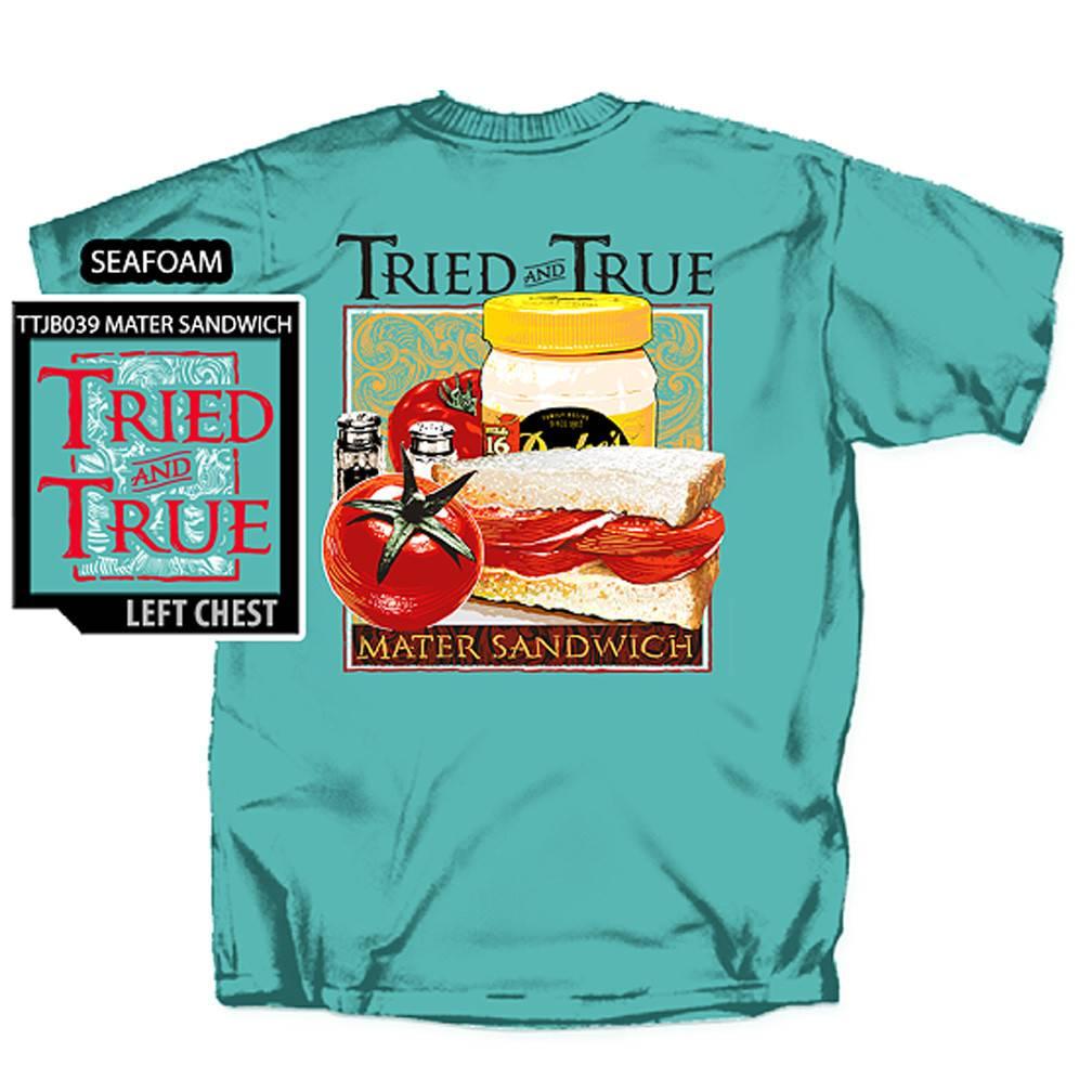 Tried and True Mater Sandwich T-Shirt, Seafoam