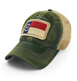 State Legacy Revival North Carolina Flag Patch Trucker Hat, Green