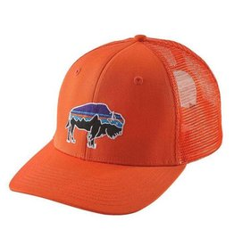 Patagonia Fitz Roy Bison Trucker Hat, Campfire Orange