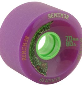 Eastern Skate Supply Remember Hoot 70mm 80a Purple - Set of 4
