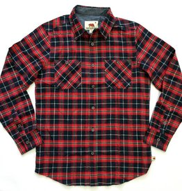 Dakota Grizzly Easton Long Sleeve Plaid Flannel, Berry