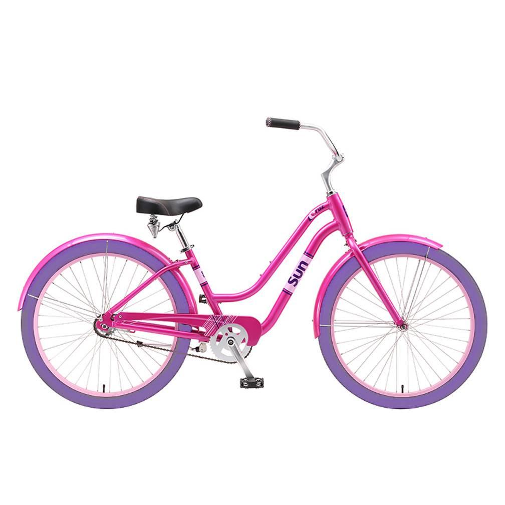 Cruz Women S Alloy Beach Bike W Basket Pink Surf Wind And Fire
