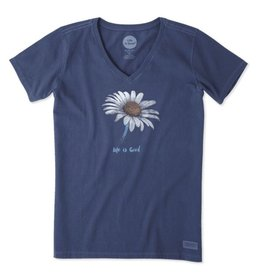 Life is Good Women's Daisy Crusher Vee, Darkest Blue