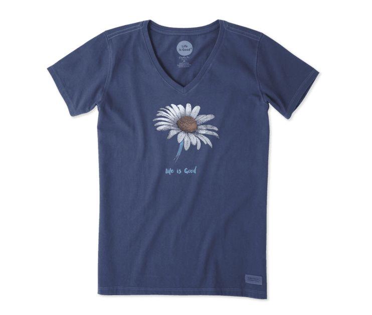 Life is Good Women's Daisy Crusher Vee, Darkest Blue