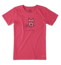 Life is Good Women's Have a Nice Daisy Rocket Crusher Tee, Pop Pink
