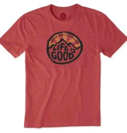 Life is Good M's Crusher Tee Mountains Speak, Americana Red