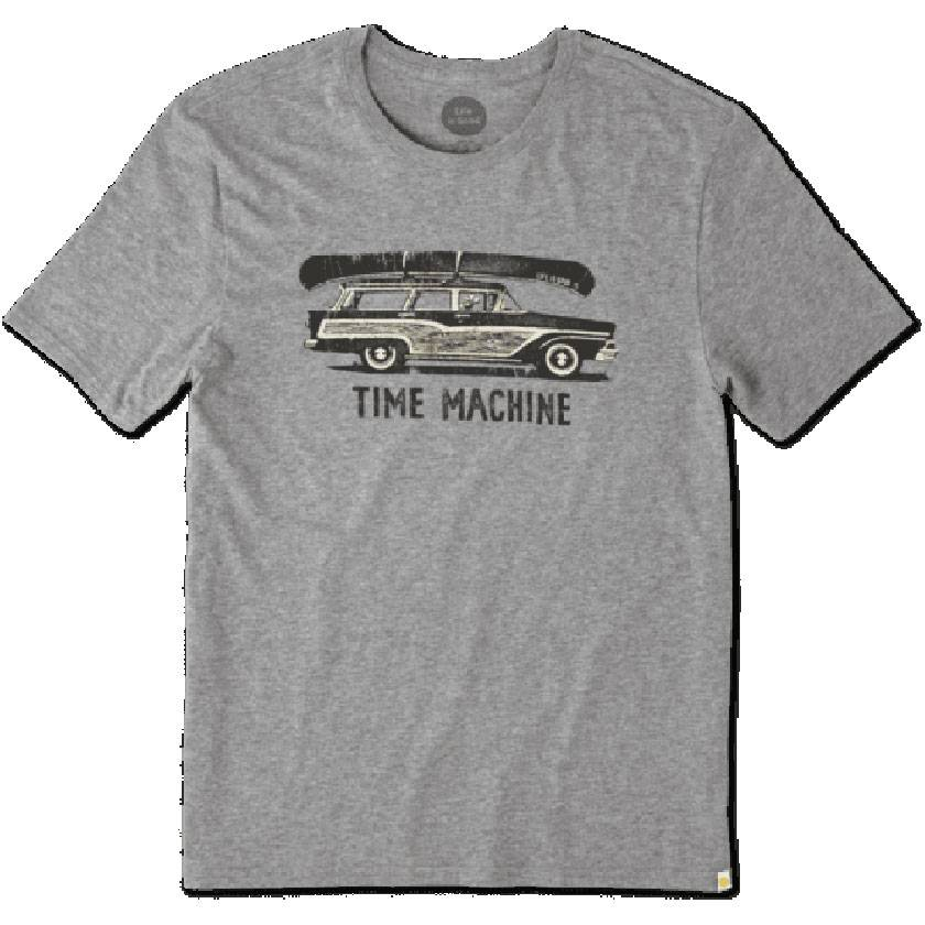 Life is Good M's Smooth Tee Time Machine Wago, Heather Grey