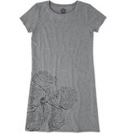 Life is Good W's T-Shirt Dress Hibiscus Swirl