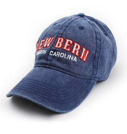 Surf, Wind and Fire New Bern Embroidered Hat, Navy w/Red Letters