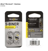 Nite Ize S-Binder MicroLock Steel, 2Pack Stainless