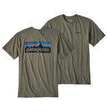 Patagonia M's P-6 Logo Cotton T-Shirt, Industrial Green