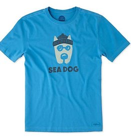 Life is Good M's Crusher Tee Sea Dog, Marina Blue