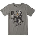 Life is Good Boys Monster Dunk Crusher Tee, Slate Grey