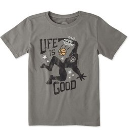 Life is Good Boys Monster Dunk Crusher Tee, Slate Grey