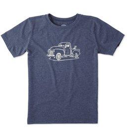 Life is Good Boys Rocket Truck Cool Tee, Darkest Blue