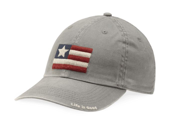 Life is Good Kids Flag Chill Cap, Slate Gray