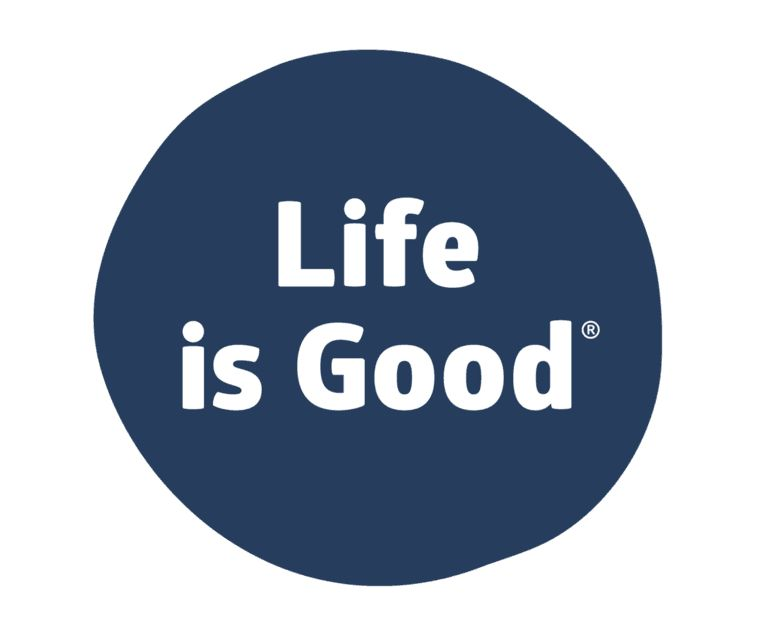 Life is Good Life Is Good Sticker, Darkest Blue