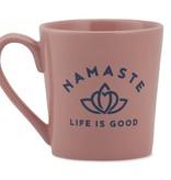 Life is Good Namaste Lotus Everyday Mug