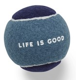 Life is Good Dog Tennis Ball, Bright Teal