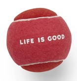 Life is Good Dog Tennis Ball, Pop Pink
