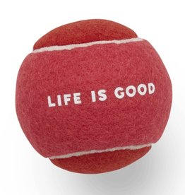 Life is Good Dog Tennis Ball, Pop Pink