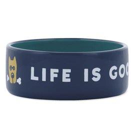 Life is Good 13oz Ceramic Rocket Life Is Good Dog Bowl