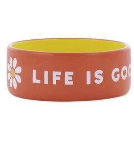 Life is Good 13oz Ceramic Daisy Life Is Good Dog Bowl