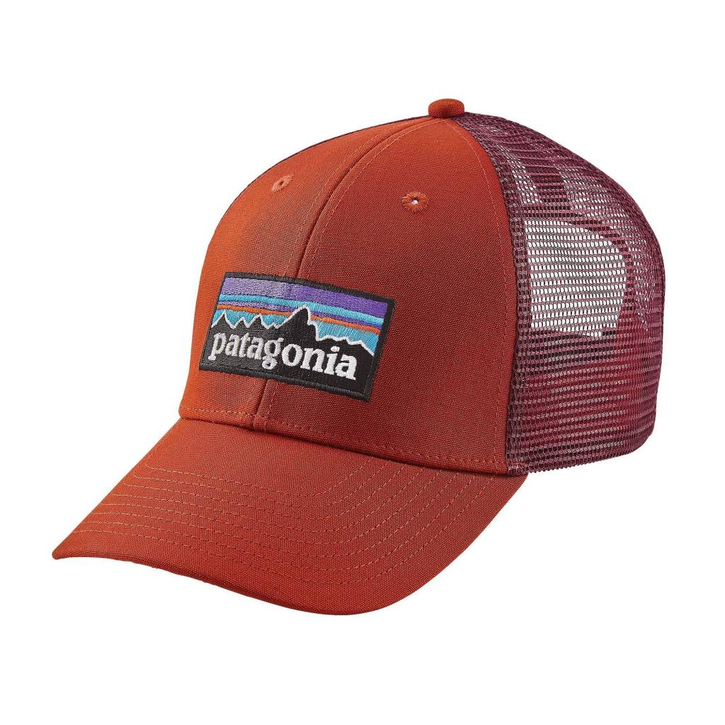 Patagonia P-6 Logo Lopro Trucker Hat, Roots Red