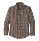 Patagonia M's L/S Pima Cotton Shirt, Inby Plaid Small: Smolder Blue