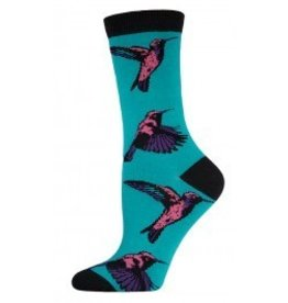 Socksmith W's Hummingbirds, Seaglass Green
