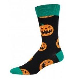 Socksmith M's Halloween Pumpkins, Black